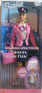 Barbie prend le train
