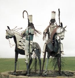 Sentinels à l'entrée de la réserve Blackfoot. Montana