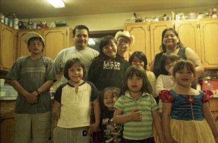 Famille Montour. Hobbema Alberta Canada